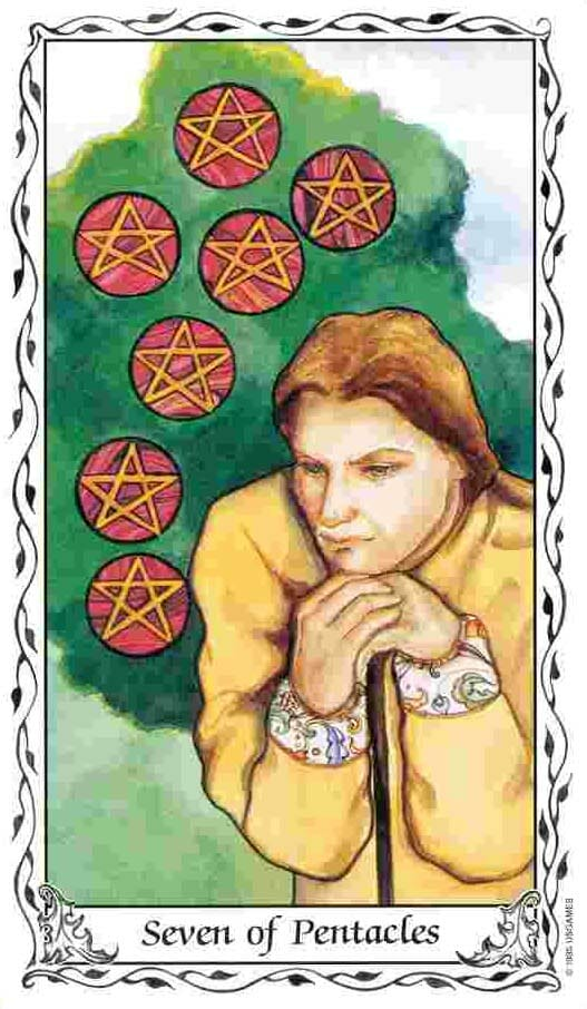 Tarot Cards #7 And 9 Of Pentacles: Gardens Growing