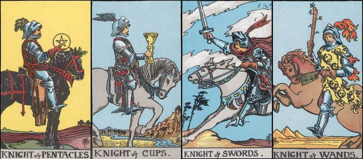 Tarot Card Knights: Do Go Gentle Into That Good Knight