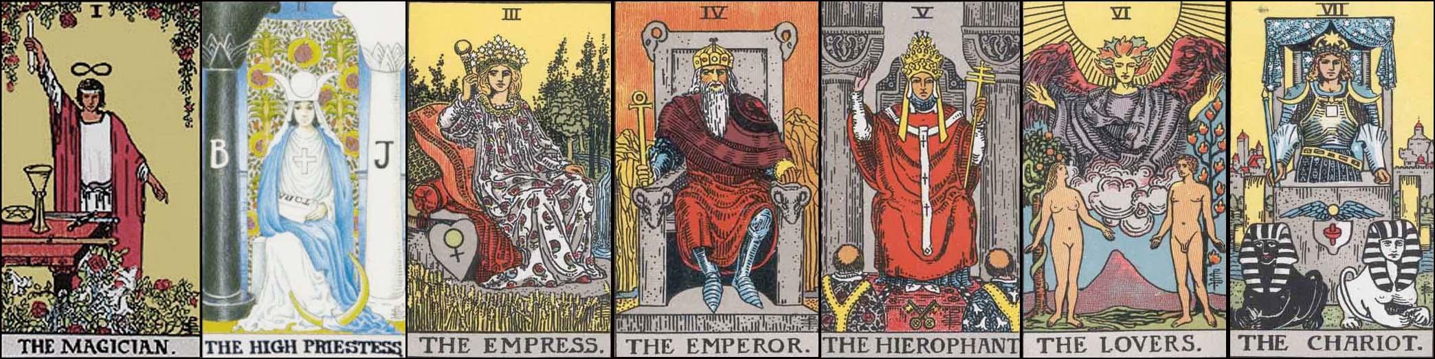 Tarot Card Majors #1 – 7: Long Strange Trip Stage I