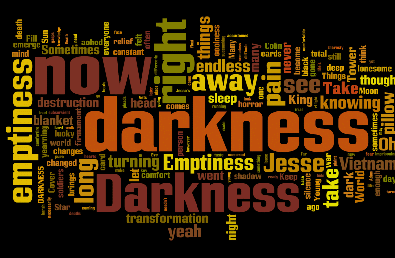 darkness wordle