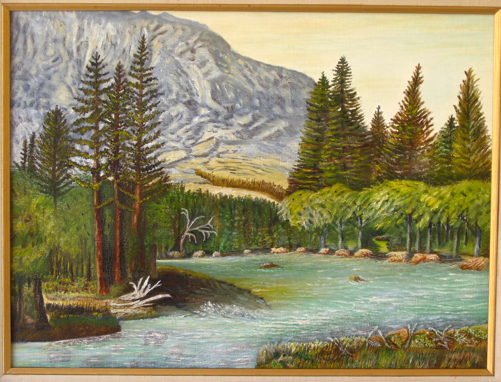 """Kings Canyon - Callifornia"" dated 1979 18x24 with Kim"